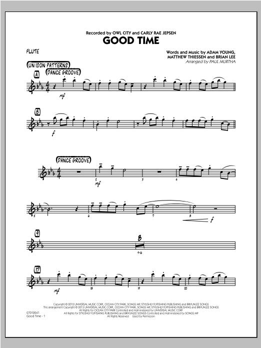 Good Time - Flute Partituras Digitales