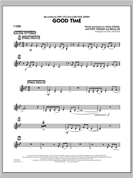 Good Time - F Horn (Jazz Ensemble)