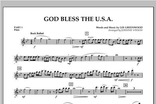 God Bless The U.S.A. - Pt.1 - Flute Sheet Music