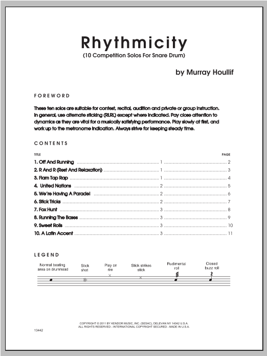 Rhythmicity - Snare Drum Sheet Music