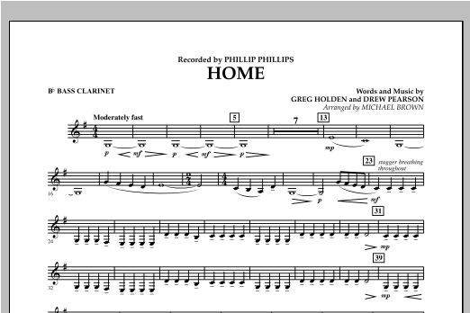Home - Bb Bass Clarinet Sheet Music