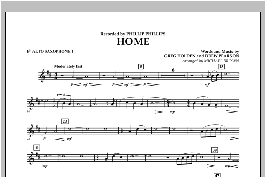 Home - Eb Alto Saxophone 1 Sheet Music