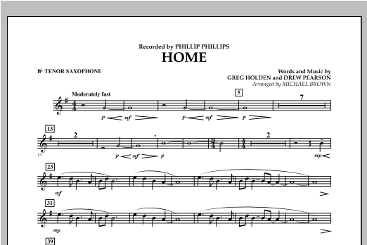 Home - Bb Tenor Saxophone Sheet Music