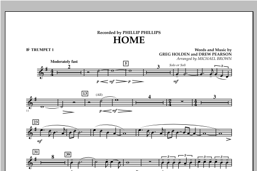 Home - Bb Trumpet 1 Sheet Music