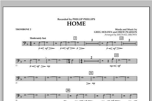 Home - Trombone 2 Sheet Music