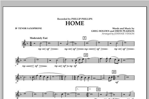 Home - Bb Tenor Saxophone Sheet Music