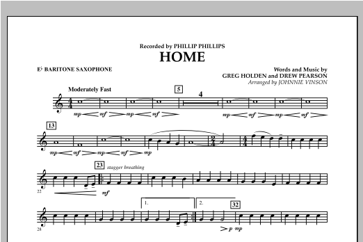 Home - Eb Baritone Saxophone Sheet Music