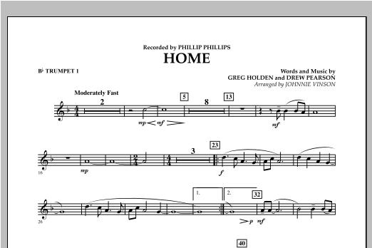 Home - Bb Trumpet 1 (Concert Band)