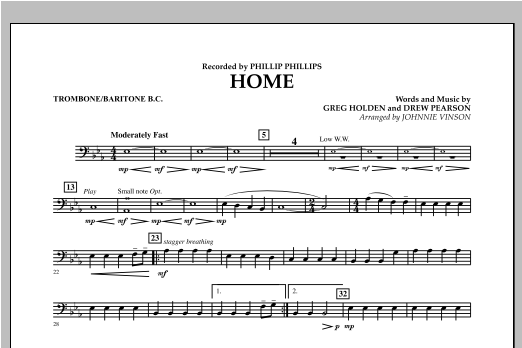 Home - Trombone/Baritone B.C. Sheet Music