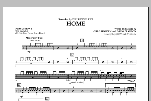 Home - Percussion 1 Sheet Music