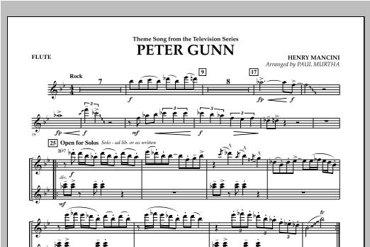 Peter Gunn - Flute Sheet Music