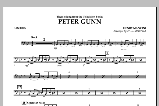 Peter Gunn - Bassoon Digitale Noten