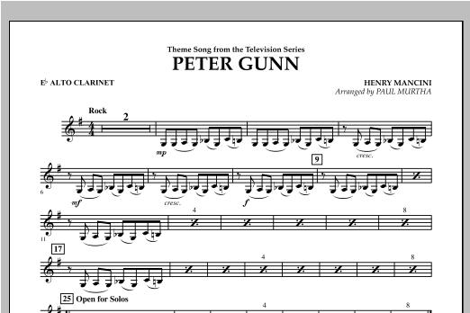 Peter Gunn - Eb Alto Clarinet Sheet Music