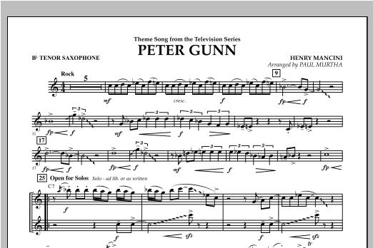 Peter Gunn - Bb Tenor Saxophone Sheet Music