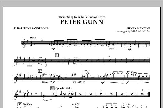 Peter Gunn - Eb Baritone Saxophone Sheet Music