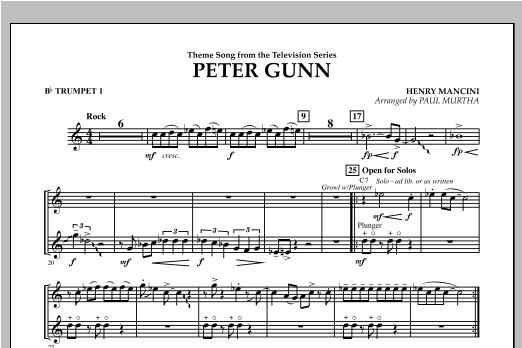 Peter Gunn - Bb Trumpet 1 (Concert Band)