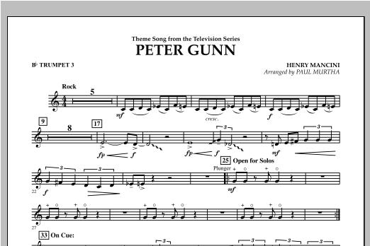 Peter Gunn - Bb Trumpet 3 Sheet Music