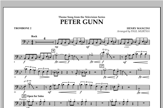 Peter Gunn - Trombone 2 Sheet Music