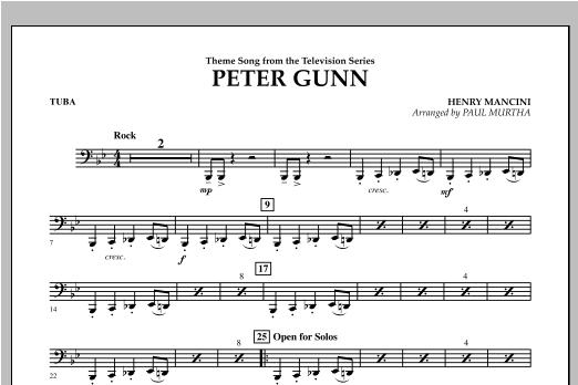Peter Gunn - Tuba (Concert Band)