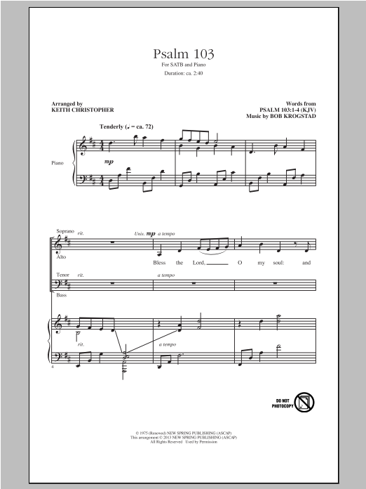 Psalm 103 Sheet Music
