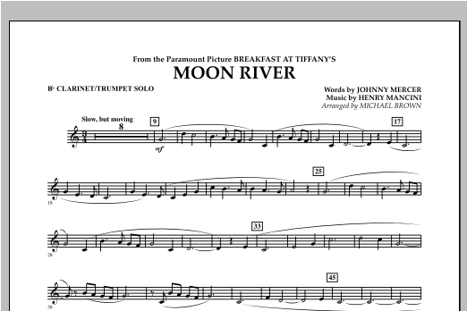 Moon River - Bb Clarinet/Trumpet Solo Sheet Music