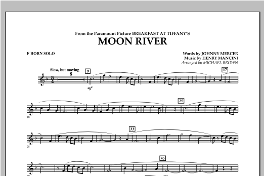 Moon River - F Horn Solo Sheet Music