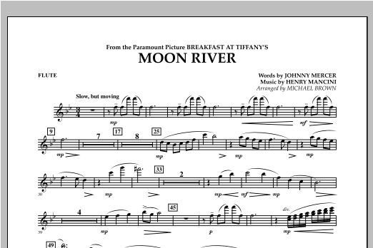 Moon River - Flute Sheet Music