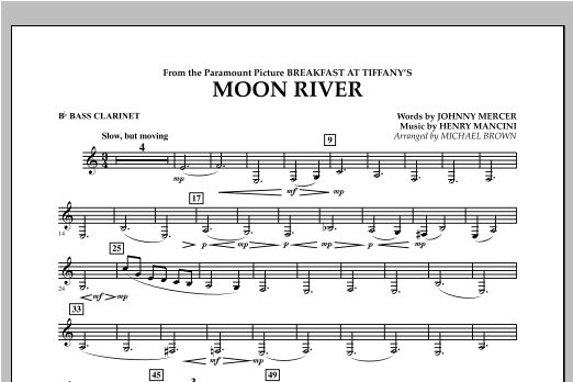 Moon River - Bb Bass Clarinet Sheet Music
