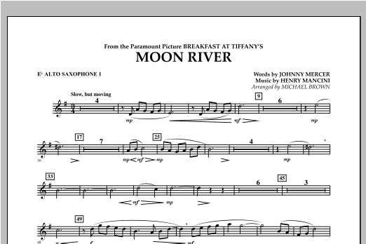 Moon River - Eb Alto Saxophone 1 Sheet Music