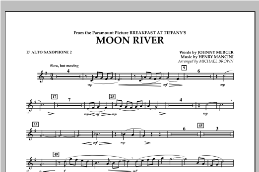 Moon River - Eb Alto Saxophone 2 Sheet Music