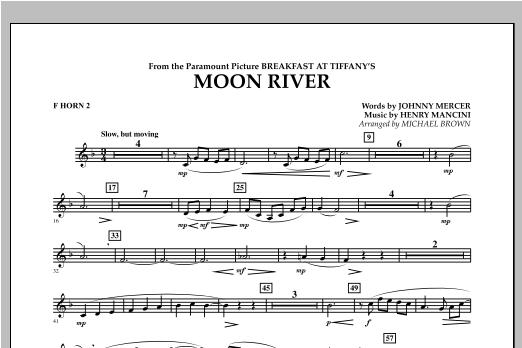 Moon River - F Horn 2 Sheet Music
