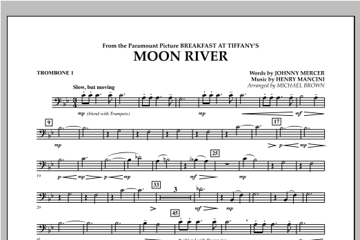 Moon River - Trombone 1 Sheet Music