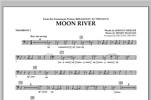 Moon River - Trombone 2 Sheet Music