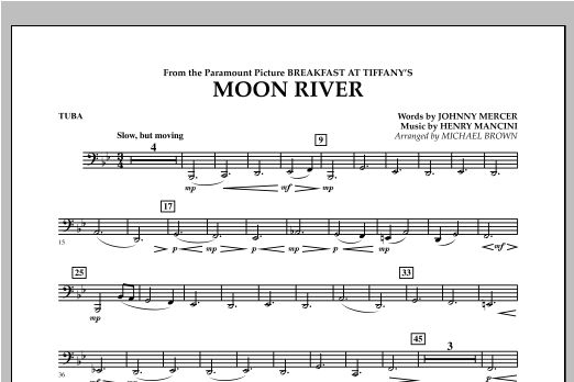 Moon River - Tuba Sheet Music