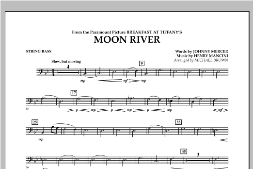 Moon River - String Bass Sheet Music