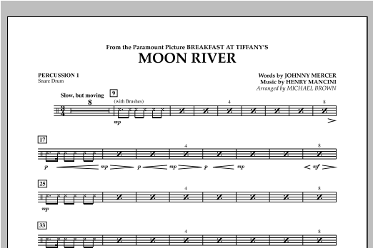Moon River - Percussion 1 Sheet Music