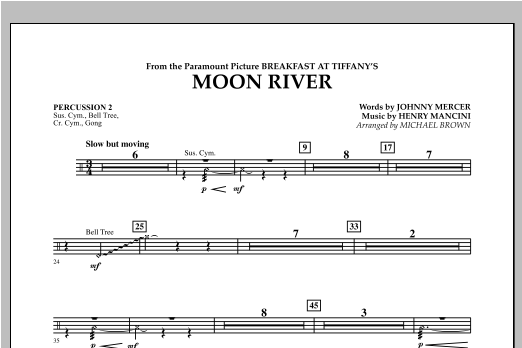 Moon River - Percussion 2 Sheet Music
