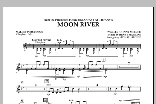 Moon River - Mallet Percussion Sheet Music
