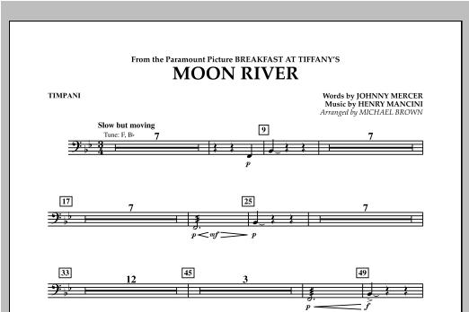 Moon River - Timpani Sheet Music