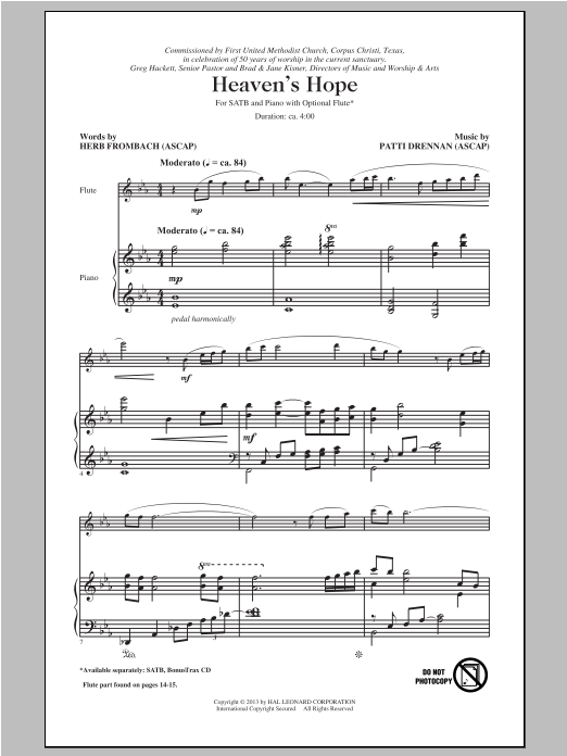 Heaven's Hope Sheet Music