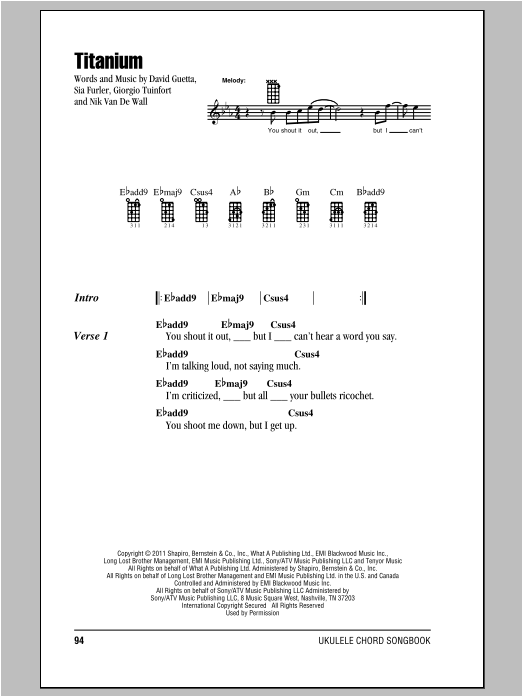 Titanium | Sheet Music Direct