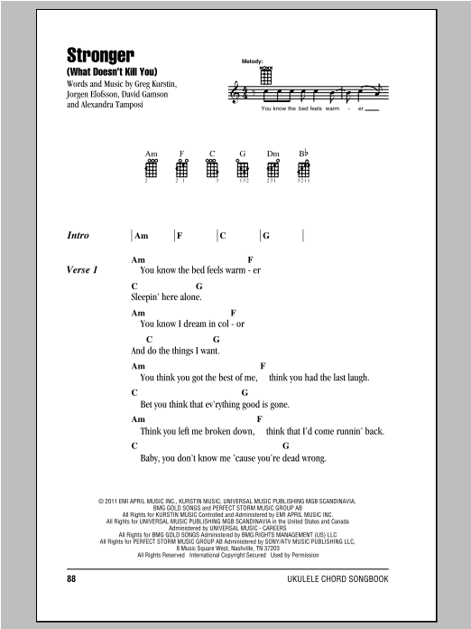 Stronger (What Doesn't Kill You) Sheet Music