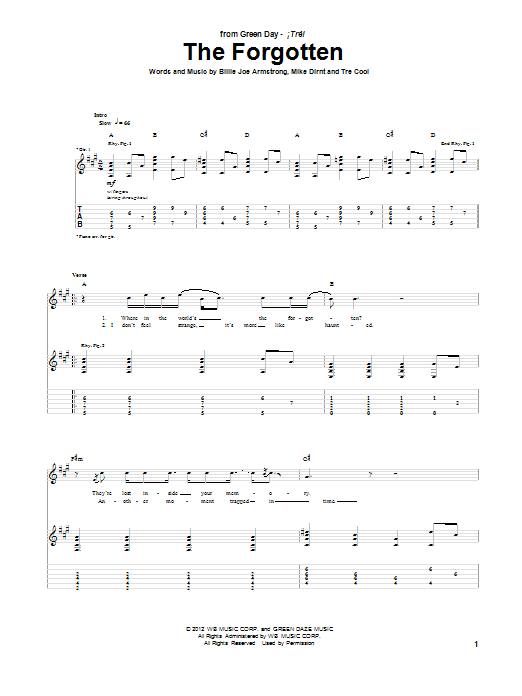 The Forgotten (Guitar Tab)