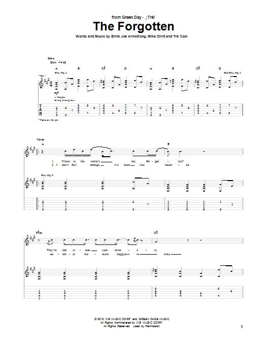 The Forgotten Sheet Music