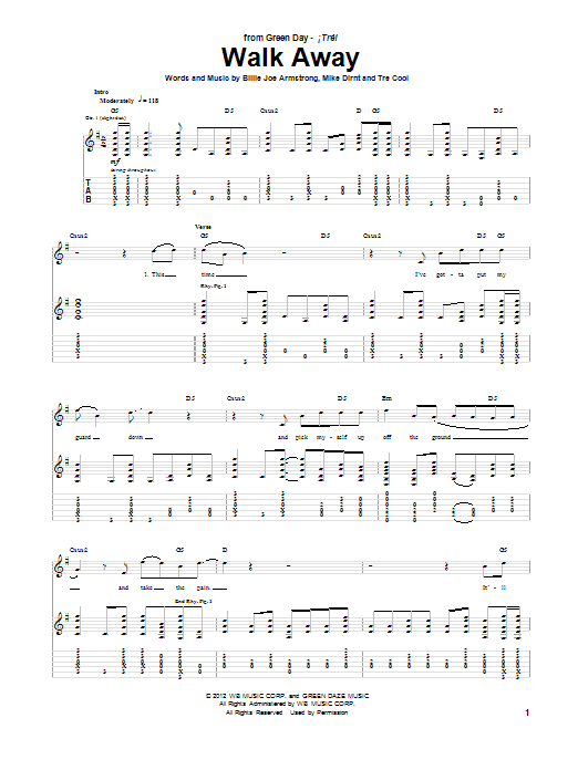 Walk Away (Guitar Tab)