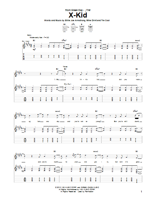X-Kid (Guitar Tab)