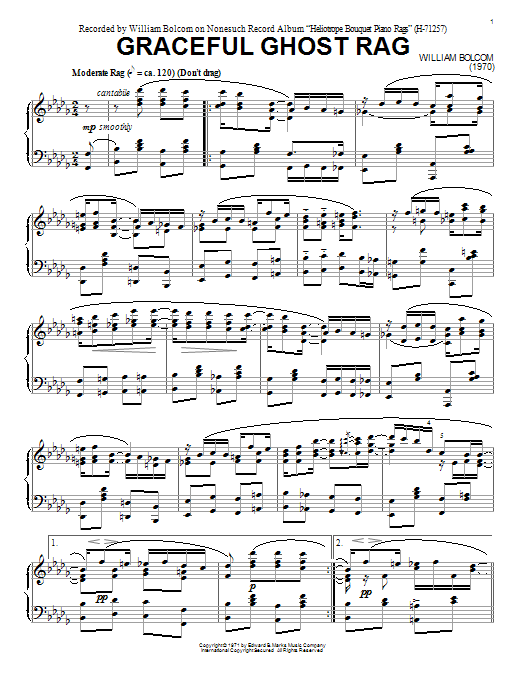 Graceful Ghost Rag Sheet Music