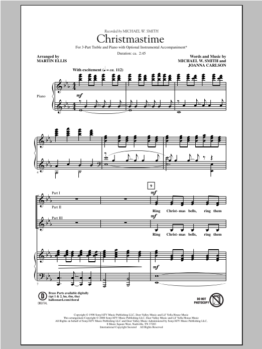 Christmastime Sheet Music