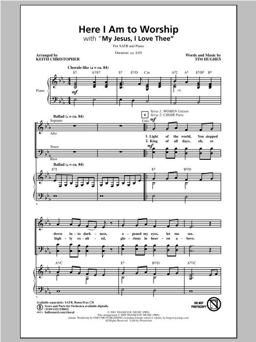 Here I Am To Worship (SATB Choir)