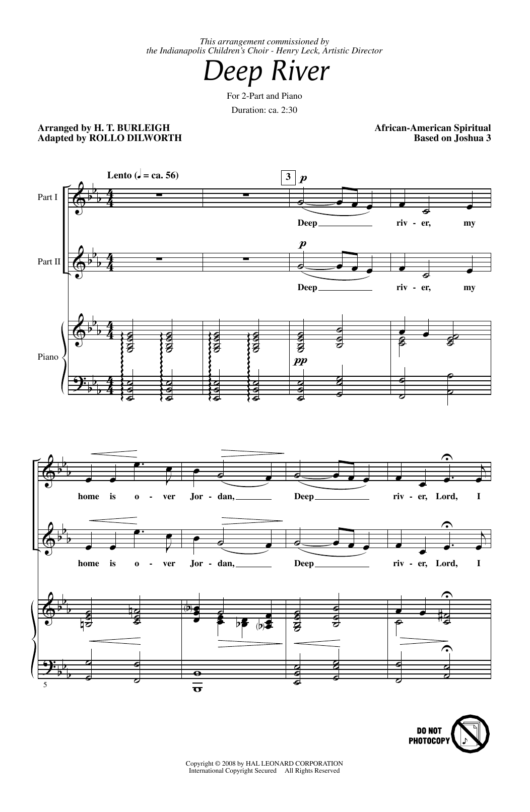 Deep River Sheet Music